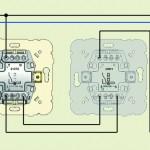 Двухклавишный проходной выключатель – установка
